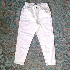 Vintage Original Liz Wear Mom Style White Jeans